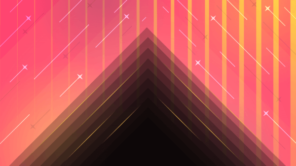 Pink Layered Abstraction vector