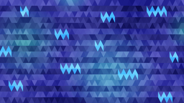 Triangles in Shades of Blue