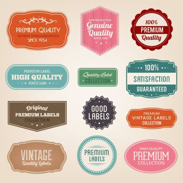 Badges vector set vector