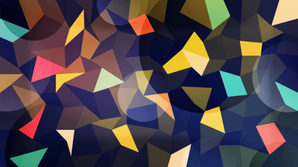 Colorful Polygons with Circles vector