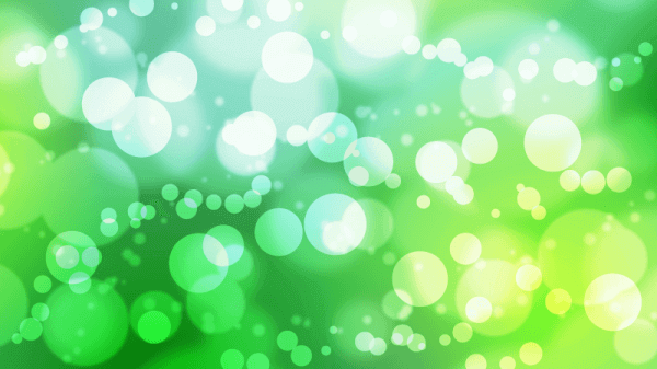 Busy Green Bokeh vector