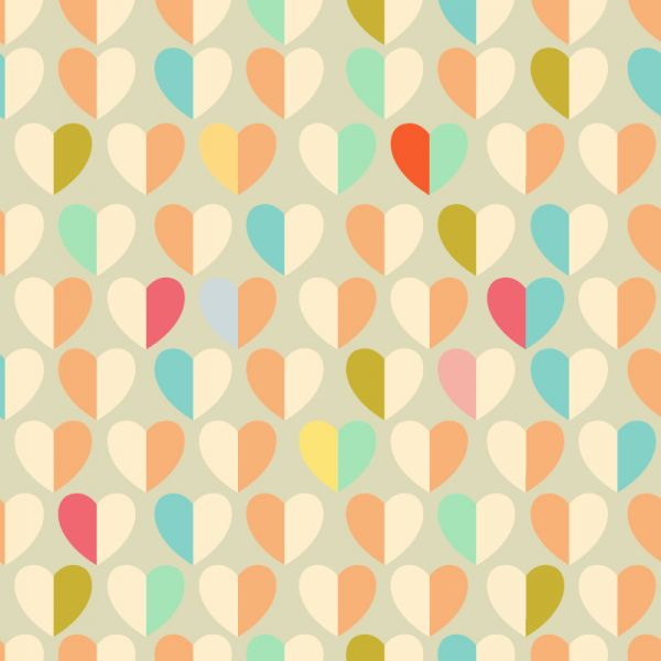 Love pattern with hearts vector