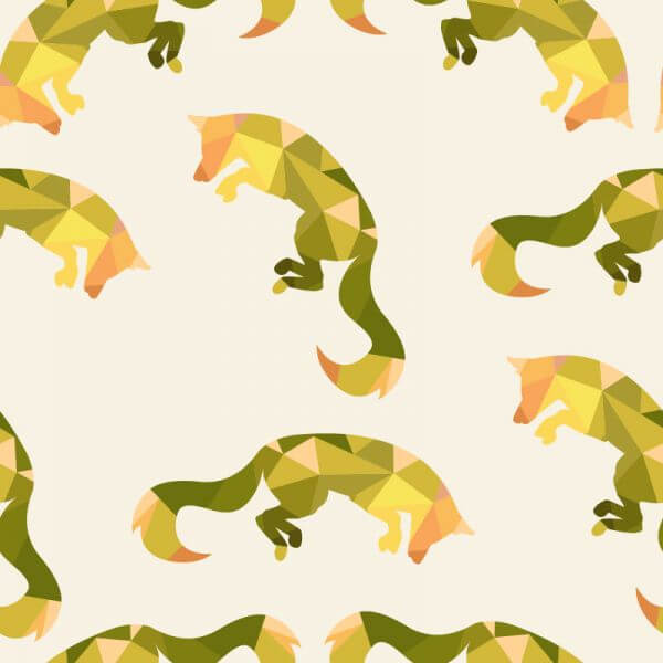 Animal pattern with fox vector