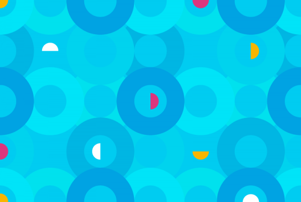 Aqua Circles Pattern vector