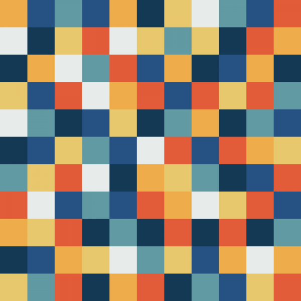 Fun Pixels Pattern vector