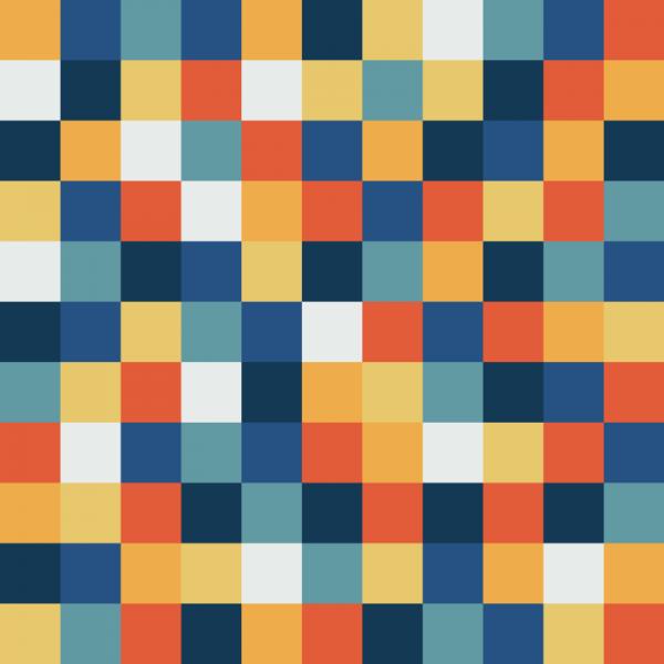 Fun Pixels Pattern vector