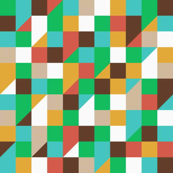 Squares and Triangles Pattern vector