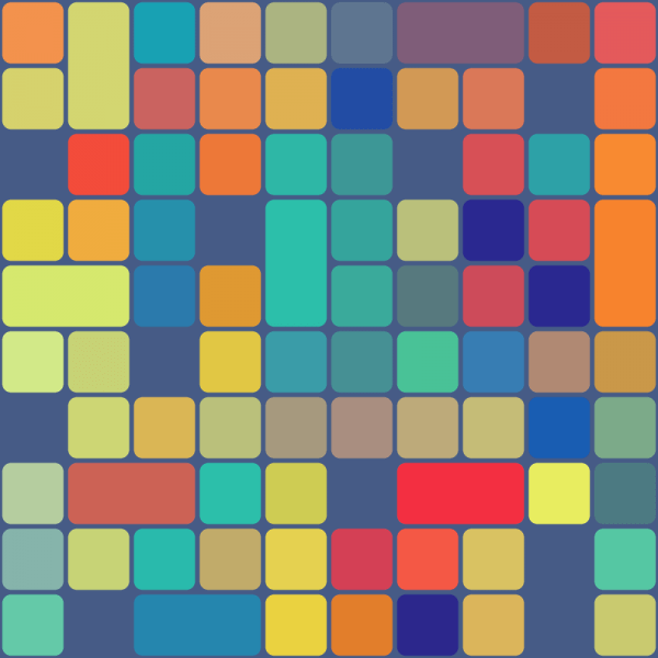 Rounded Squares Pattern vector