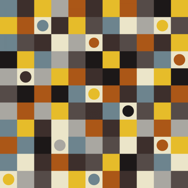 Squares and Dots Pattern vector
