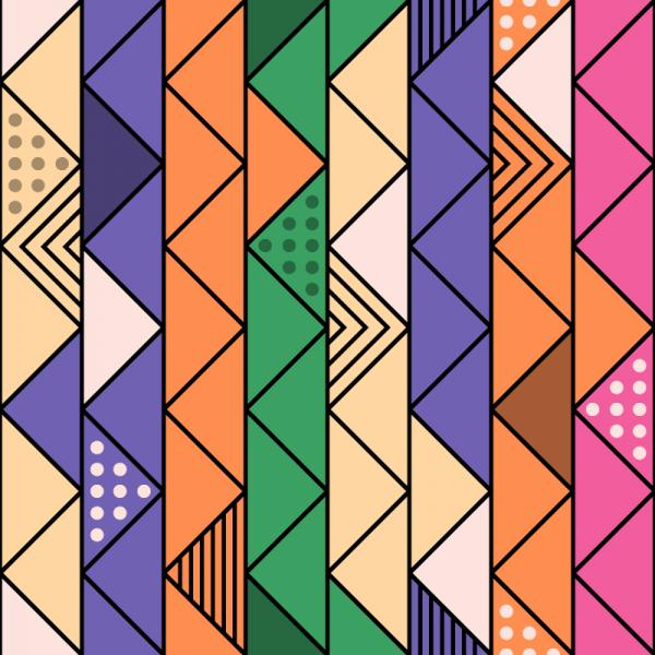 Colorful Retro Line Pattern vector