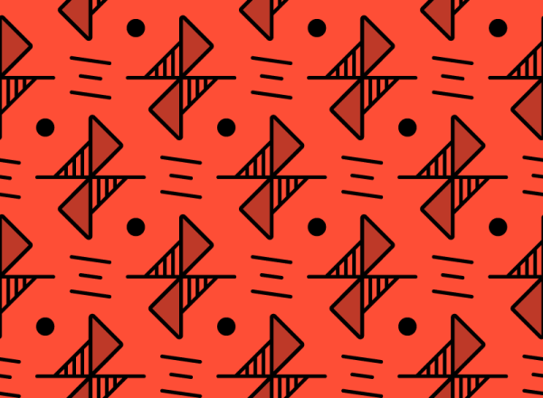 Red Line Pattern vector