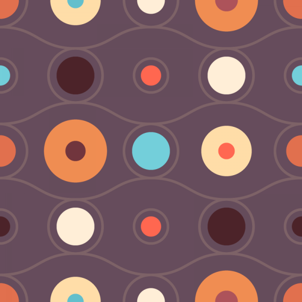 Abstract Retro Circles Pattern vector
