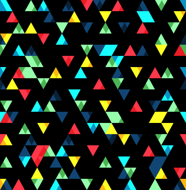 Small Colorful Triangles Pattern vector