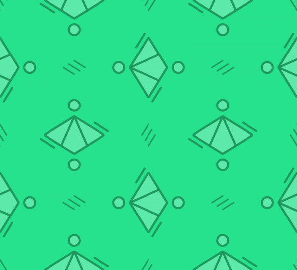 Green Diamond Pattern vector