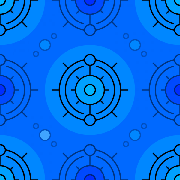 Blue Circles Pattern vector