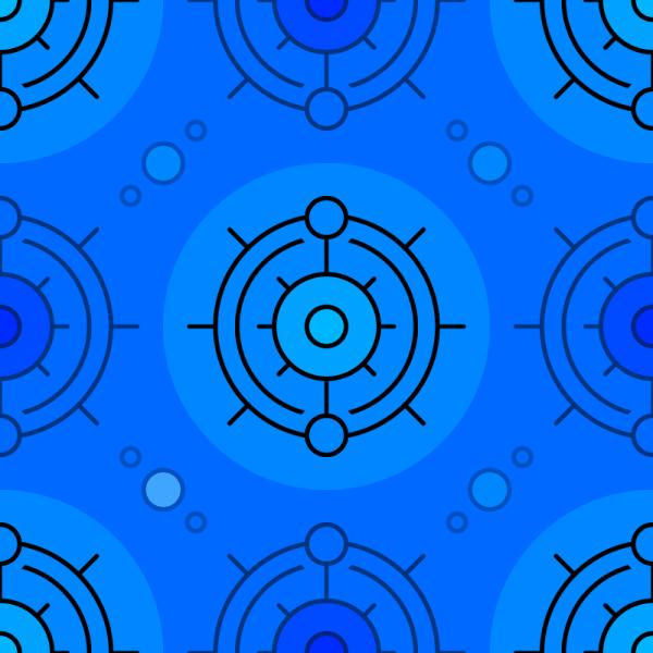 Blue Circles Pattern vector