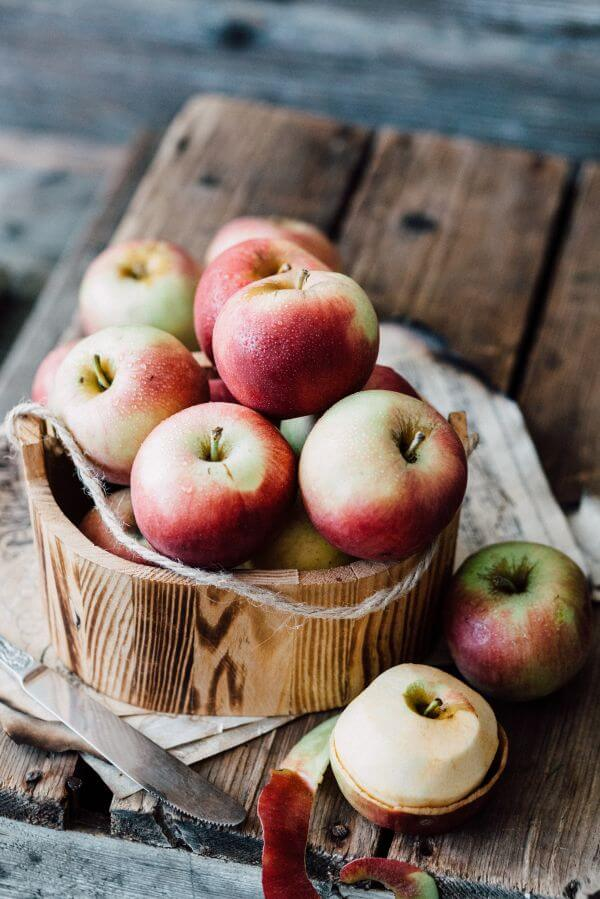 Apples in Wooden Bowl photo