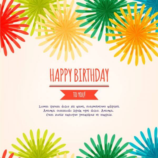 Happy birthday vector illustration vector