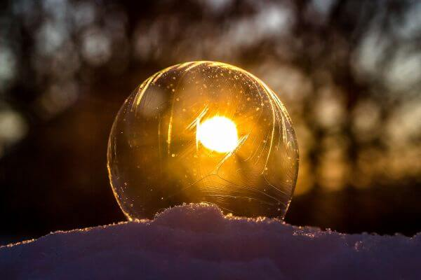 Light Bulb during Sunset photo
