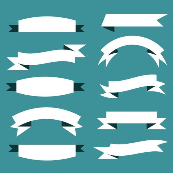 Vector set of ribbons vector