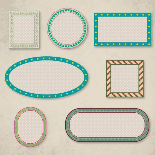 Vector set of frames vector