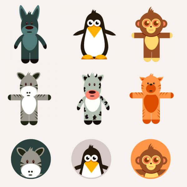Cute animals vector set vector