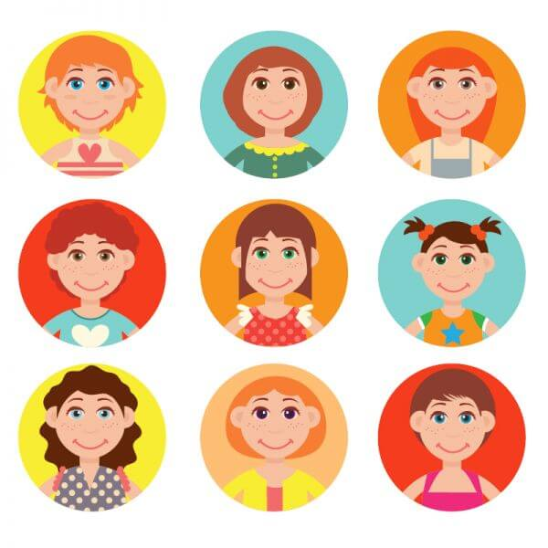 Cute avatars vector set vector