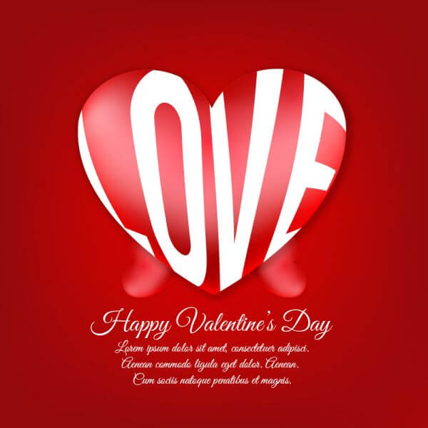 Happy Valentine's Day vector illustration vector