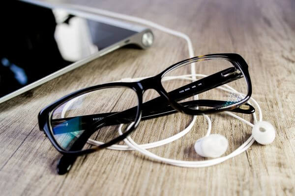 Eyeglasses on Table photo