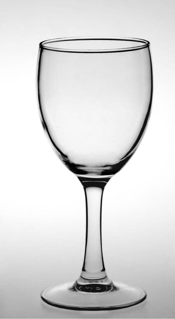 Wine Glass Against White Background photo