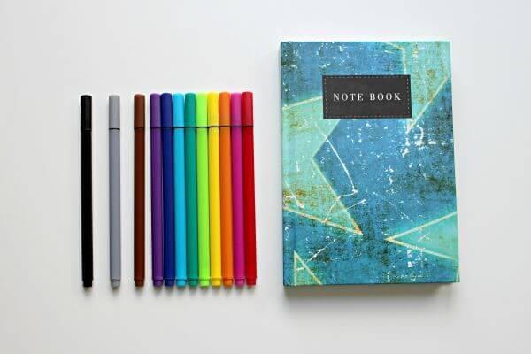 Colored pens photo