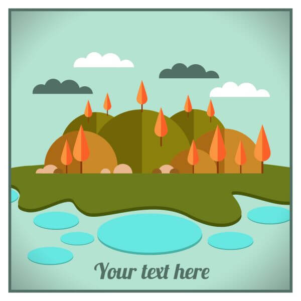 Landscape illustration vector