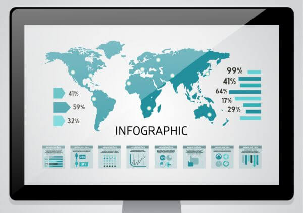 vector set of infographic elements for your documents vector