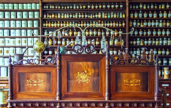 Alcohol bottles photo