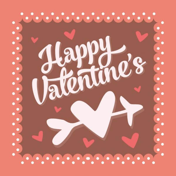Valentines day vintage typographic background vector