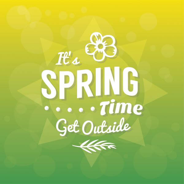 Spring Typographic Background vector
