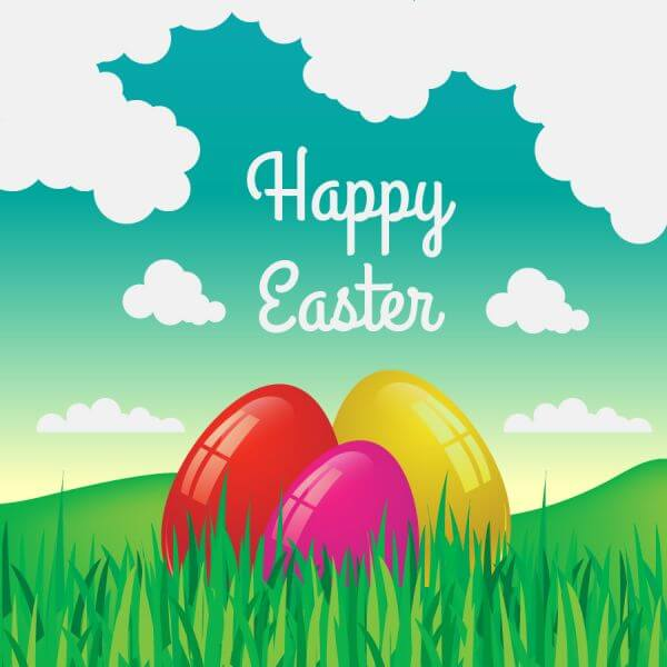 Easter illustration with flowers and egg vector