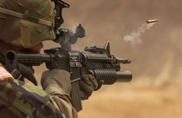 Automatic weapon photo