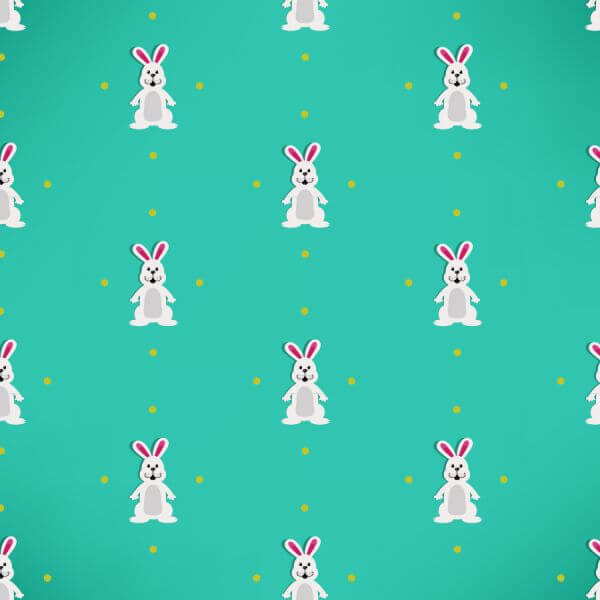 Easter pattern with rabbits vector