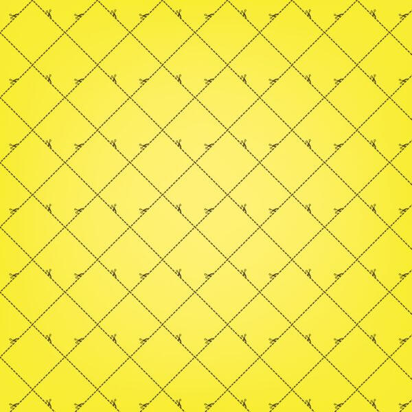 Yellow Squares Pattern With Scissors vector