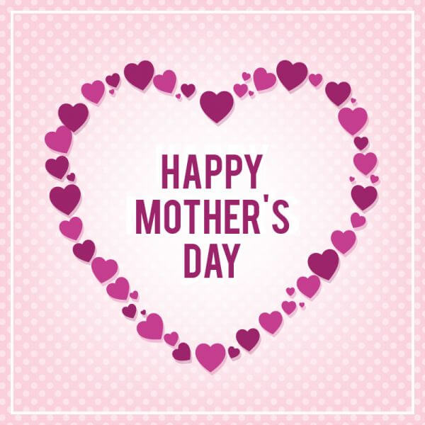 Happy Mothers's Day Typo With Heart vector