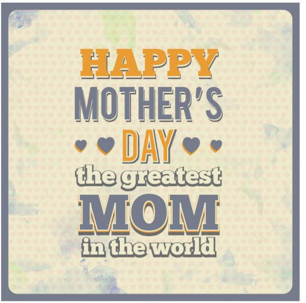 Mother's Day Typography vector