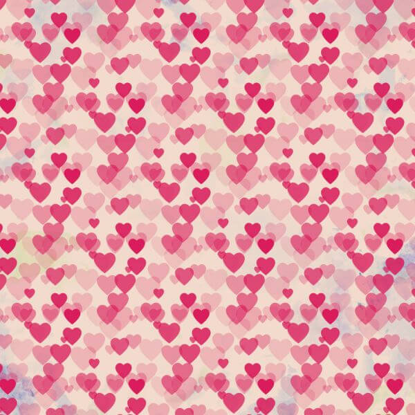 Valentine's day vintage background with hearts vector