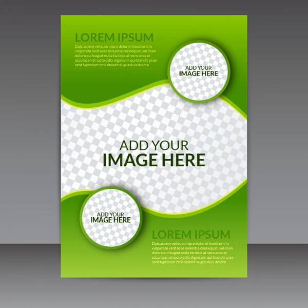 Green Business Vector Flyer Template vector