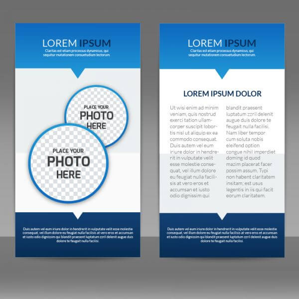 Blue Flyer Template vector