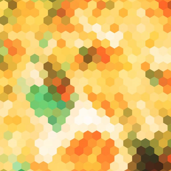 abstract yellow hexagon pattern background vector