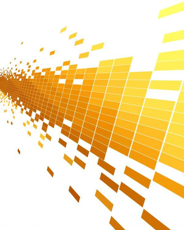 abstract yellow technology pattern background vector