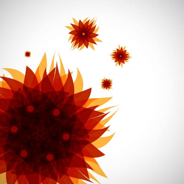 abstract brown flower pattern  vector