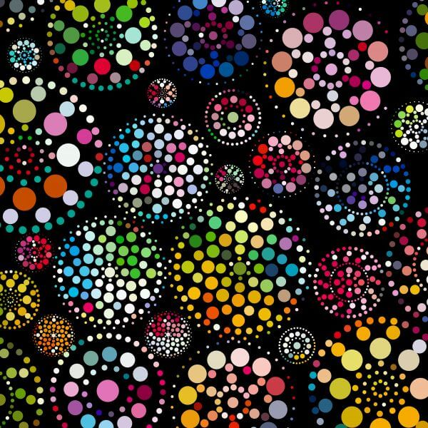 abstract colorful dots pattern background vector