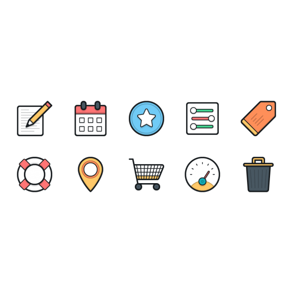 Lulu Icons - Mini Set 5 vector